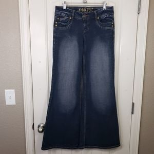 HYDRAULIC Premium Low Waist Wide Leg Denim Jeans